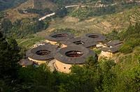 Asia, China, Fujian, Nanjing County, Shuyang Town, Shangban Village, Tianloukeng Tulou Cluster