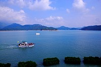 Asia, China, Taiwan, Nantou, Yuchih Township, Sun Moon Lake