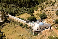 Aerial photograph of a tombs of the just in mount Miron in the Upper Galilee