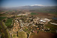 Aerial photograph of the village of Amir in the Upper Galilee