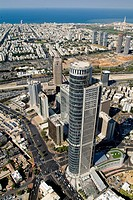 Aerial photograph of the Aviv tower in Ramat Gan