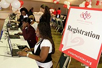 Florida, Miami, James L. Knight Center, centre, Women´s Heart Health Fair, Sister to Sister Foundation, heart disease, health, prevention, Black, woma...