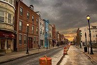 Public works at Darien Street, Philadelphia, Pennsylvania, USA