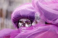 Carnival masks portrait, Venice, Italy