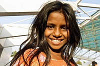 Girl at National Martyrs Monument, Dhaka, Bangladesh