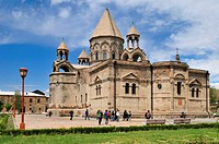 historic armenian orthodox main cathedral, UNESCO World Heritage Site, Echmiadzin, Armenia, Asia