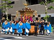 Mikoshi parading, Kanda festival, Tokyo, Japan (Spring 2009)