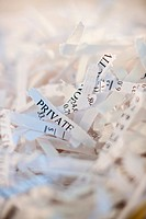 Confidential paperwork shredded