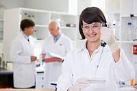 Lab technician working in laboratory