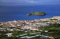 The town of Vila Franca do Campo and the islet  Azores islands, Portugal