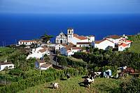 Partial view of Pedreira do Nordeste village  Sao Miguel island, Azores, Portugal