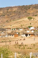 Moved away neighborhood of the Center of Caracol, Caracol, Piauí, Brazil