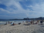 Beach, People, Copacabana, Rio de Janeiro, Brazil