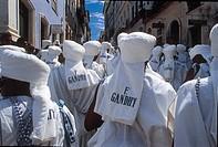 Carnival, Gandhi Children, Salvador, Bahia, Brazil