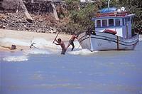 Beach, Boat, Cajú Island, Piauí, Brazil