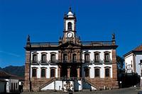 Tiradentes Square, Inconfidência Museum, Ouro Preto, Minas Gerais, Brazil