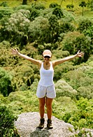 Woman, Mountaineering, Tibagi, Paraná, Brazil