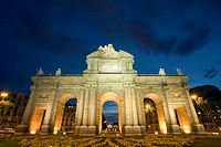 The Puerta de Alcala is situated in Independence Square next to Retiro Park in Madrid. It was inaugurated in 1778.