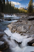 Waterfall on Sheep River, Kananaskis, Alberta, Canada
