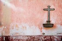 Cross on wall, Antigua, Guatemala