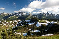 Tatoosh Mountains in spring season, Mt Rainier National Park, Washington State, USA