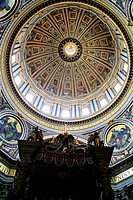 Bernini´s Baroque baldachin and dome, St Peter´s Basilica, Vatican City, Rome, Italy