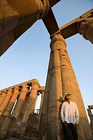 Man at Luxor Temple