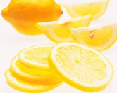 Lemons, close up, white background, soft focus