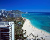 Waikiki beach, Hawaii, USA