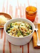 Orecchiette with broccoli, pine nuts and cheese