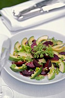 Beetroot and avocado salad