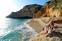 Paraiso beach, Carvoeiro, Algarve, Portugal, Europe