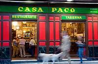 People in Casa Paco restaurant. Madrid, Spain.