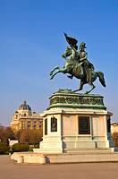 Statue of archduke Karl in Heldenplatz in central Vienna Austria EU