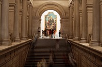 United States, New York City, Manhattan, Metropolitan Museum of Art, stairs going to European Paintings department