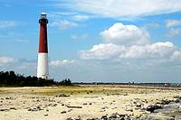 The lighthouse at Barnegat Bay, NJ, stands guard, New Jersey, USA