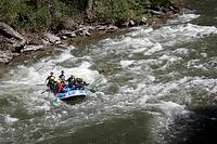 Rafting on the Rio La Noguera Pallaresa in the Spanish Pyrenees