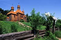 Ukraine, Pyrohovo, museum of the traditional architecture