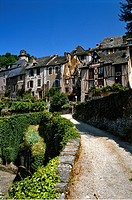 France, Aveyron, Conques, a stop on el Camino de Santiago, labelled Les Plus Beaux Villages de France The Most Beautiful Villages of France