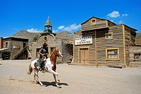 Spain, Andalusia, Almeria Province, Tabernas Desert, Texas_Hollywood Amusement park where the 7 Mercenaries from John Sturges, Les Petroleuses from Ch...