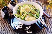 Cucumber salad with tofu and sesame seeds