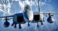 An F-15E Strike Eagle soars over the mountains of Afghanistan in support of Operation Mountain Lion on Wednesday, April 12, 2006  The crew and fighter...