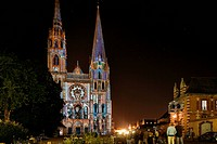France, Eure et Loir, Chartres, Notre Dame de Chartres Cathedral listed as World Heritage by UNESCO