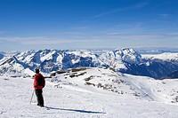 France, Isere, Les Deux Alpes skiing area, Glacier de Jandri