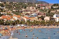 France, Var, Corniche des Maures, Le Lavandou beach