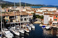 France, Var, Port Grimaud, the lake village created in 1966 by architect Francois Spoerry