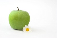 Grenn Apple with a flower