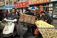 China, Shandong province, Qingdao, market in the old town