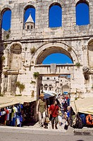 Croatia, Dalmatian coast, Split, old Roman city listed as World Heritage by UNESCO, Diocletian´s Palace, Silver gate
