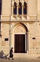 Croatia, Dalmatia, Dalmatian coast, Trogir, historical center listed as World Heritage by UNESCO